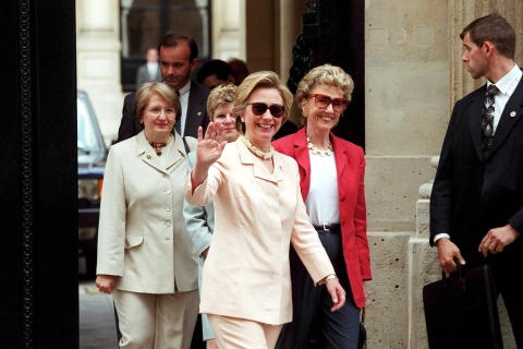 Hillary Clinton Shopping In Paris, France On June 16, 1999.