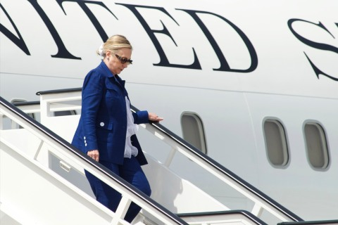 Hillary Clinton Visits Spain