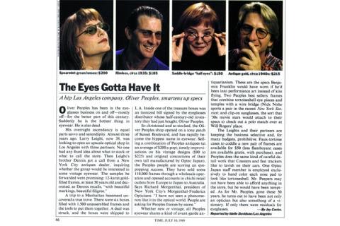 Time Magazine Article (1989)