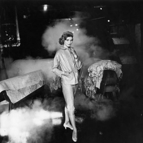 French fashion model Simone Bodin, 1956