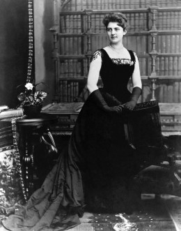 image: The youngest First Lady in history, twenty-one year old Frances Folsom Cleveland