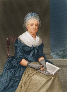image: circa 1790: Martha Washington (1731 - 1802), wife of US president George Washington