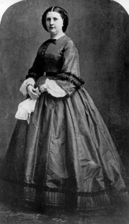 image: circa 1857: Harriet Lane, the first lady of the White House ( 1857 - 1861) during the presidency of James Buchanan. Lane was the niece of Buchanan, who is tho only unmarried President of the United States