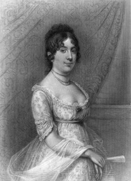 image: circa 1812: Dorothy 'Dolley' Madison, the wife of James Madison, the 4th President of the United States of America