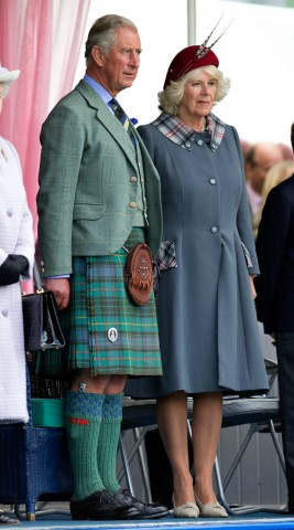 Prince Charles, Prince of Wales and Camilla Duchess of Cornwall attend the 2012 Braemar Highland Gathering at The Princess Royal & Duke of Fife Memorial Park on Sept. 1, 2012 in Braemar, Scotland.