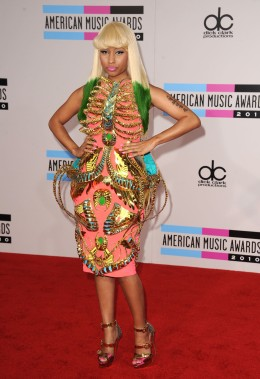 image: Singer Nicki Minaj arrives at the 2010 American Music Awards held at Nokia Theatre L.A. Live on November 21, 2010 in Los Angeles, California