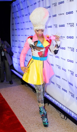image: Nicki Minaj attends the Casio Tryx digital launch at the Best Buy Theatre on April 7, 2011 in New York City