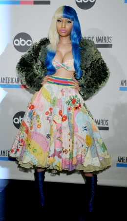 image: Nicki Minaj announces the nominations for the 2011 American Music Awards at the JW Marriott Los Angeles at L.A. Live on October 11, 2011 in Los Angeles, California