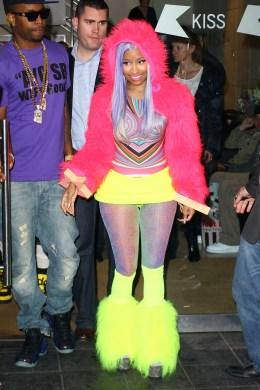 image: Nicki Minaj seen at KISS FM on April 20, 2012 in London, England