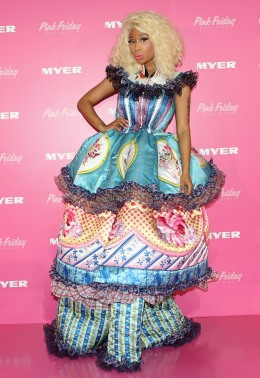 image: Nicki Minaj during an event to celebrate the launch of her new perfume at Myer Sydney City on November 29, 2012 in Sydney, Australia.