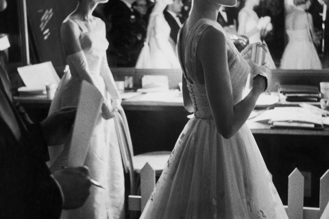 Audrey Hepburn and Grace Kelly 1956