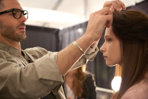 Katya Leonovich - Backstage - Fall 2013 Mercedes-Benz Fashion Week
