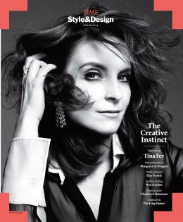 On the cover: Photograph of Tina Fey by Paola Kudacki for Time. Valentino black sheer silk jumpsuit with white collar and cuffs; Bulgari High Jewelry Collection white gold and pavé diamond earrings; H. Stern Celtic Dunes ring in 18-karat noble gold with diamonds