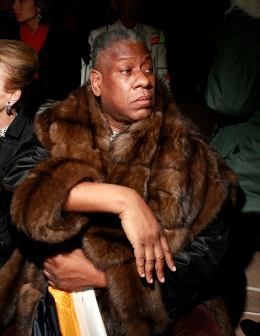 Vogue Editor At Large Andre Leon Talley sits on the front row before the Tibi Fall 2010 collection during New York Fashion Week