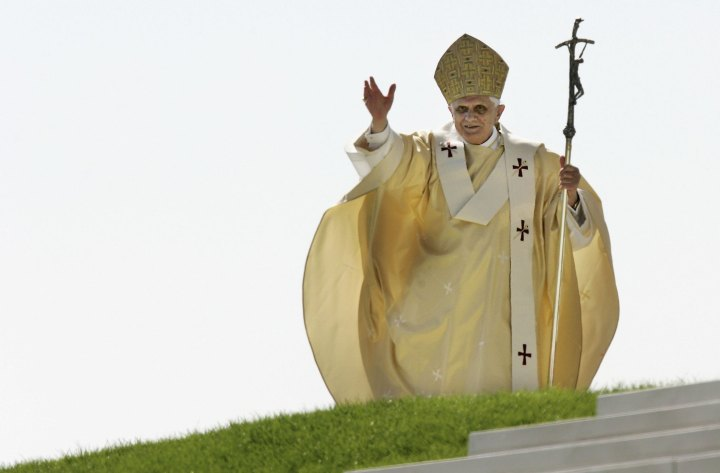 Pope Benedict XVI wearing hats