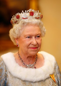 Britain's Queen Elizabeth is pictured be