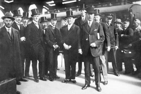 Sir Horace Rumbold arrives in Berlin. (British Ambassador to Berlin 1928-33) - March-1929