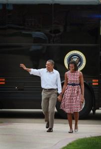 President Obama Finishes Bus Tour Through Iowa